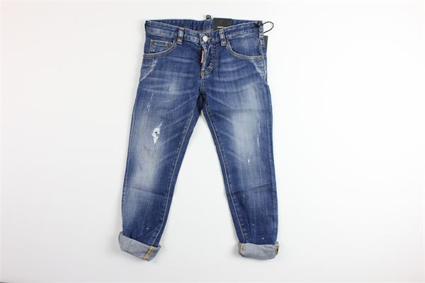 jeans 5 tasche tinta unita DSQUARED | Jeans | DQ01Q3BLU