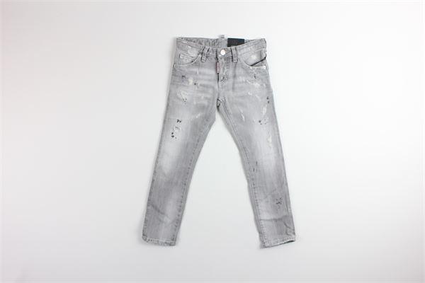 jeans 5 tasche tinta unita DSQUARED | Jeans | DQ01Q3GRIGIO