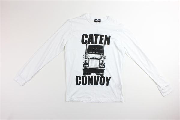 shirt tinta unita con stampa DSQUARED | Shirts | DQ02UUBIANCO
