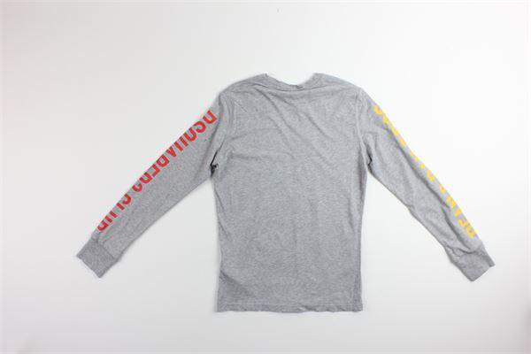 shirt tinta unita con stampa DSQUARED | Shirts | DQ02UYGRIGIO