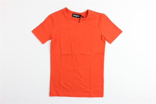 t-shirt mezza manica tinta unita DSQUARED | T-shirts | DQ035DARANCIO