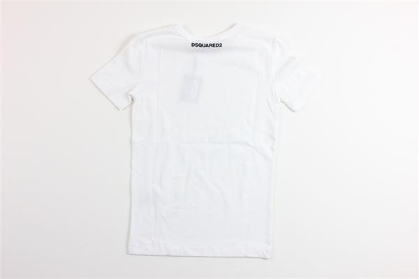 t-shirt mezza manica tinta unita DSQUARED | T-shirts | DQ035DBIANCO