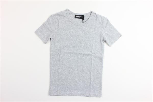 t-shirt mezza manica tinta unita DSQUARED | T-shirts | DQ035DGRIGIO
