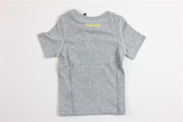 t-shirt mezza manica tinta unita con stampa DSQUARED | T-shirts | DQ03NGGRIGIO