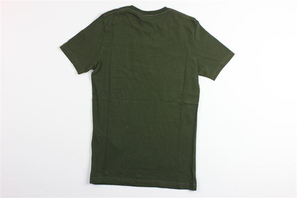 t-shirt mezza manica tinta unita con stampa DSQUARED | T-shirts | DQ03W6VERDE MILITARE