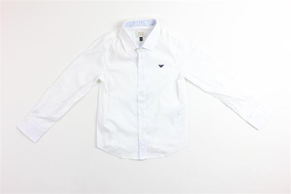camicia manica lunga tinta unita EMPORIO ARMANI | Camicie | 3Z4C01BIANCO