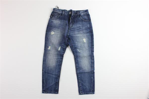 jeans tinta unita con girovita regolabile 5 tasche EMPORIO ARMANI | Jeans | 6G4J04JEANS