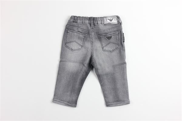 jeans tinta unita girovita regolabile EMPORIO ARMANI | Jeans | 6GHJ02GRIGIO