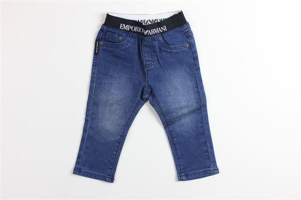 jeans elastico in vita profili in contrasto EMPORIO ARMANI | Jeans | 6GHJ07JEANS