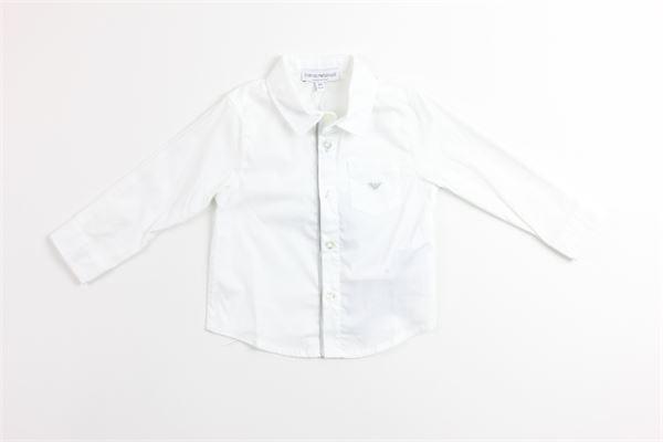 camicia manica lunga tinta unita EMPORIO ARMANI | Camicie | 6ZH801BIANCO