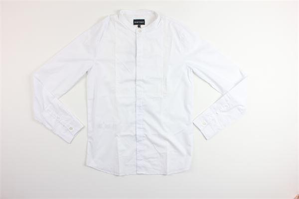 camicia manica lunga tinta EMPORIO | Camicie | 3G4610BIANCO