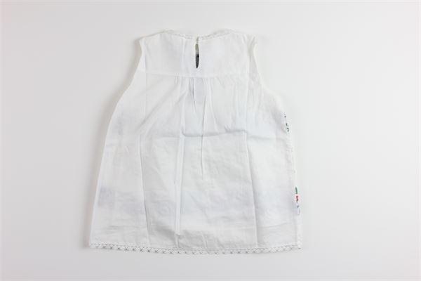 abito giromanica tinta unita con ricami ERMANNO SCERVINO | Camicie | 40IT016BIANCO