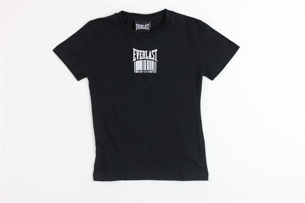 t-shirt mezza manica tinta unita con stampa EVERLAST | T-shirts | 024638NERO