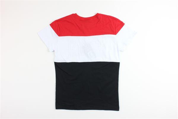 t-shirt mezza manica tricolore con stampa EVERLAST | T-shirts | 024667ROSSO/NERO