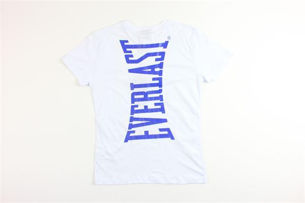 t-shirt mezza manica tinta unita con stampa EVERLAST | T-shirts | 024677BIANCO