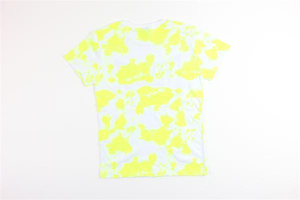 t-shirt mezza manica tinta unita con stampa 100%cotone EVERLAST | T-shirts | 024684GIALLO FLUO