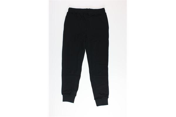 pantalone in felpa tinta unita con stampa EVERLAST | Pantaloni | 024690NERO