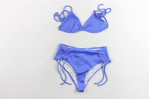 bikini tinta unita a costine vita alta F**K | Costumi | F19Y-C3026COBALTO
