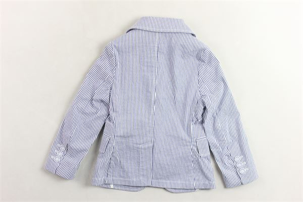 giacca  tinta unita fantasia a righe con taschini FAY JUNIOR | Giacche | NBG74387210BIANCO/BLU