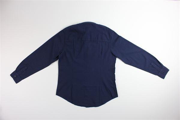 camicia manica lunga tinta unita 100%cotone FAY | Camicie | 5M5040BLU
