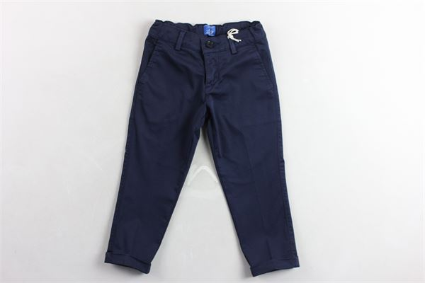 pantalone tasche america tinta unita girovita regolabile FAY | Pantaloni | 5M6071BLU
