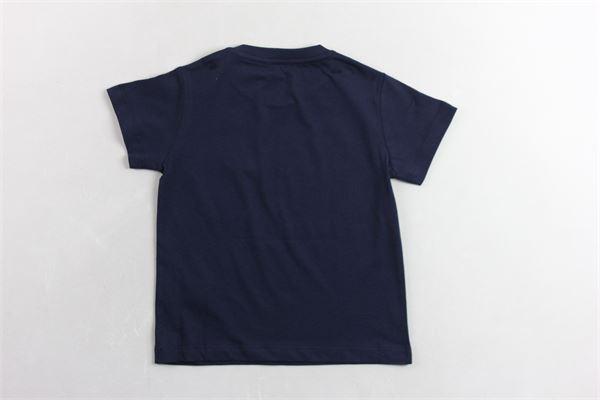 t-shirt mezza manica tinta unita con profili in contrasto FAY | T-shirts | 5M8111BLU