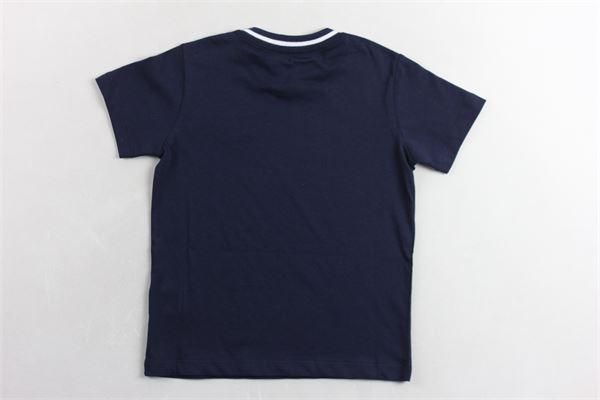 t-shirt mezza manica tinta unita stampa logo FAY | T-shirts | 5M8131BLU