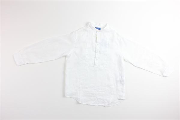 camicia manica lunga tinta unita 100%lino FAY | Camicie | NDHA138742LBIANCO