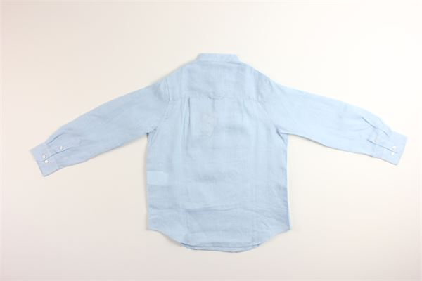 camicia manica lunga tinta unita 100%lino FAY | Camicie | NDHA138742LCELESTE