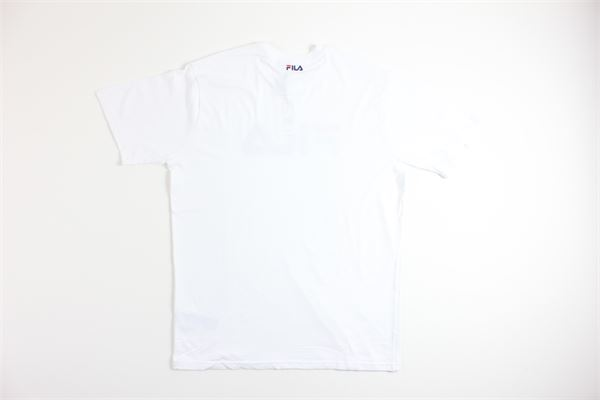 t-shirt mezza manica tinta unita con stampa FILA   T-shirts   681093BIANCO