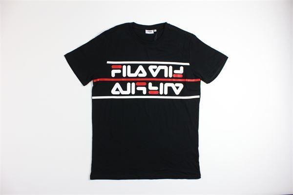 t-shirt mezza manica tinta unita con stampa FILA   T-shirts   687474NERO