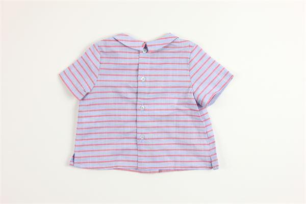 camicia mezza manica tinta unita 100%cotone fantasia a righe FINA EJERIQUE   Camicie   P20B0133CELESTE