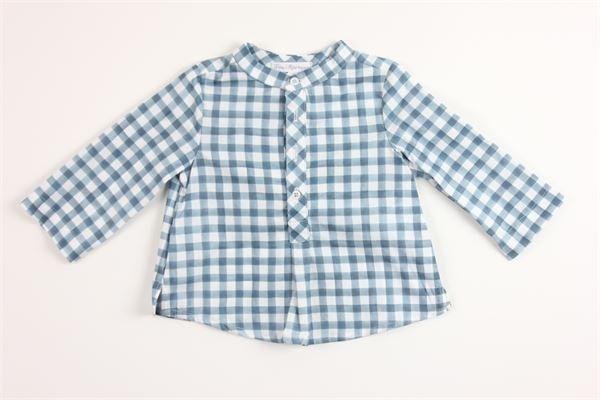 camicia fantasia a quadri manica lunga 100%cotone FINA EJERIQUE   Camicie   P20B1537BLU