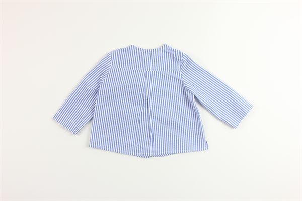 camicia manica lunga tinta unita fantasia a righe 100%cotone FINA EJERIQUE   Camicie   P20B2643BLU