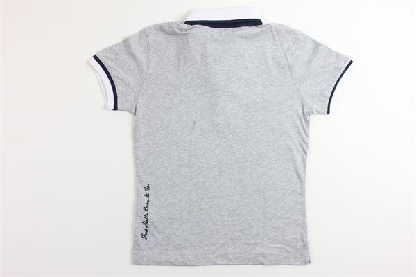 polo mezza manica tinta unita con profili in contrasto FRED MELLO   T-shirt   001015GRIGIO