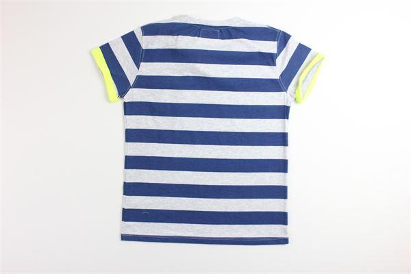 t-shirt tinta unita fantasia a righe FRED MELLO | T-shirts | 009390GRIGIO