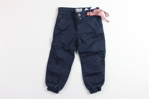pantalone tinta unita con girovita regolabile FRED MELLO | Pantaloni | 013744BLU