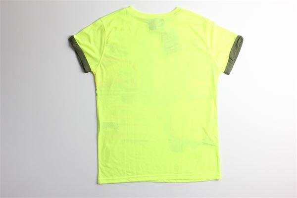 t-shirt tinta unita con stampa FRED MELLO | T-shirts | 014427GIALLO FLUO