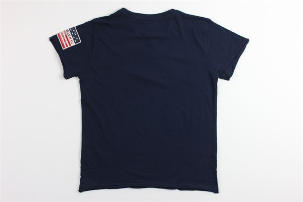 t-shirt tinta unita con stampa FRED MELLO | T-shirts | 018422BLU