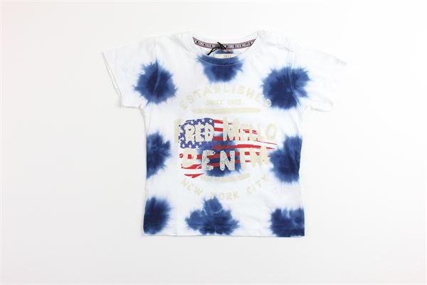 t-shirt tinta unita con stampa FRED MELLO | T-shirts | 018443BIANCO