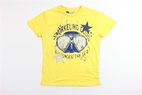 t-shirt tinta unita con stampa FRED MELLO | T-shirts | 024084GIALLO