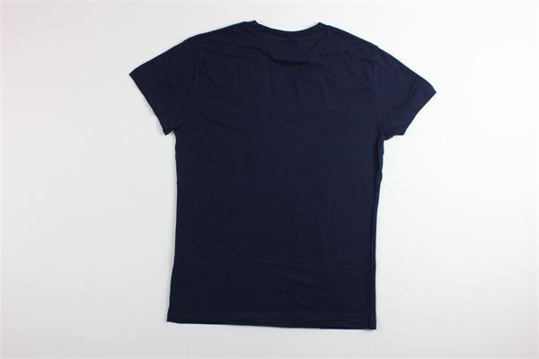 t-shirt tinta unita con stampa FRED MELLO | T-shirts | 024098BLU