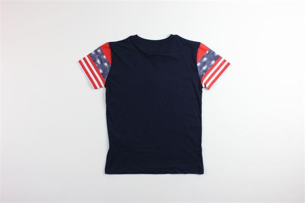 t-shirt tinta unita con stampa FRED MELLO | T-shirts | 024112BLU