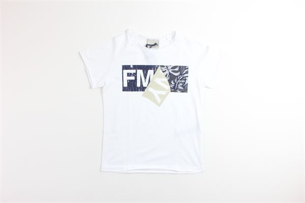 t-shirt tinta unita con stampa FRED MELLO | T-shirts | 18893BIANCO