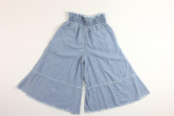 jeans con elastico in vita a palazzo FUN & FUN | Jeans | FHJPT4307CELESTE