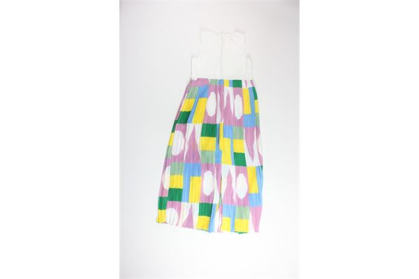 tute in plissè giromanica multicolor FUN & FUN | Tute | FNJJP4002BIANCO