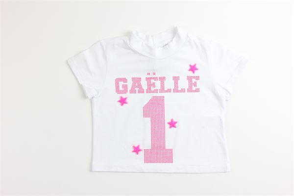 t-shirt mezza manica tinta unita con stampa e applicazioni GAELLE | T-shirts | 2746M0123BIANCO