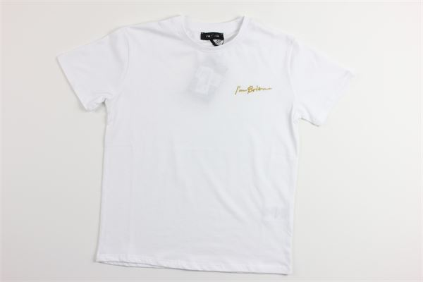 t-shirt mezza manica tinta unita con stampa logo I'M BRIAN | T-shirts | TS1197JBIANCO