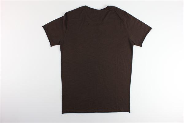 t-shirt basic tinta unita 100%cotone I MARSILI | T-shirts | F34MARRONE