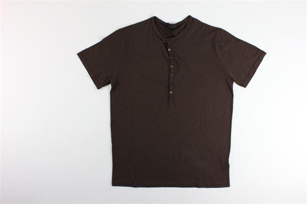 t-shirt basic tinta unita 100%cotone I MARSILI | T-shirts | F4MARRONE
